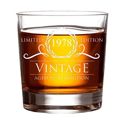 1978 40th Birthday Gifts For Women And Men Whiskey Glass