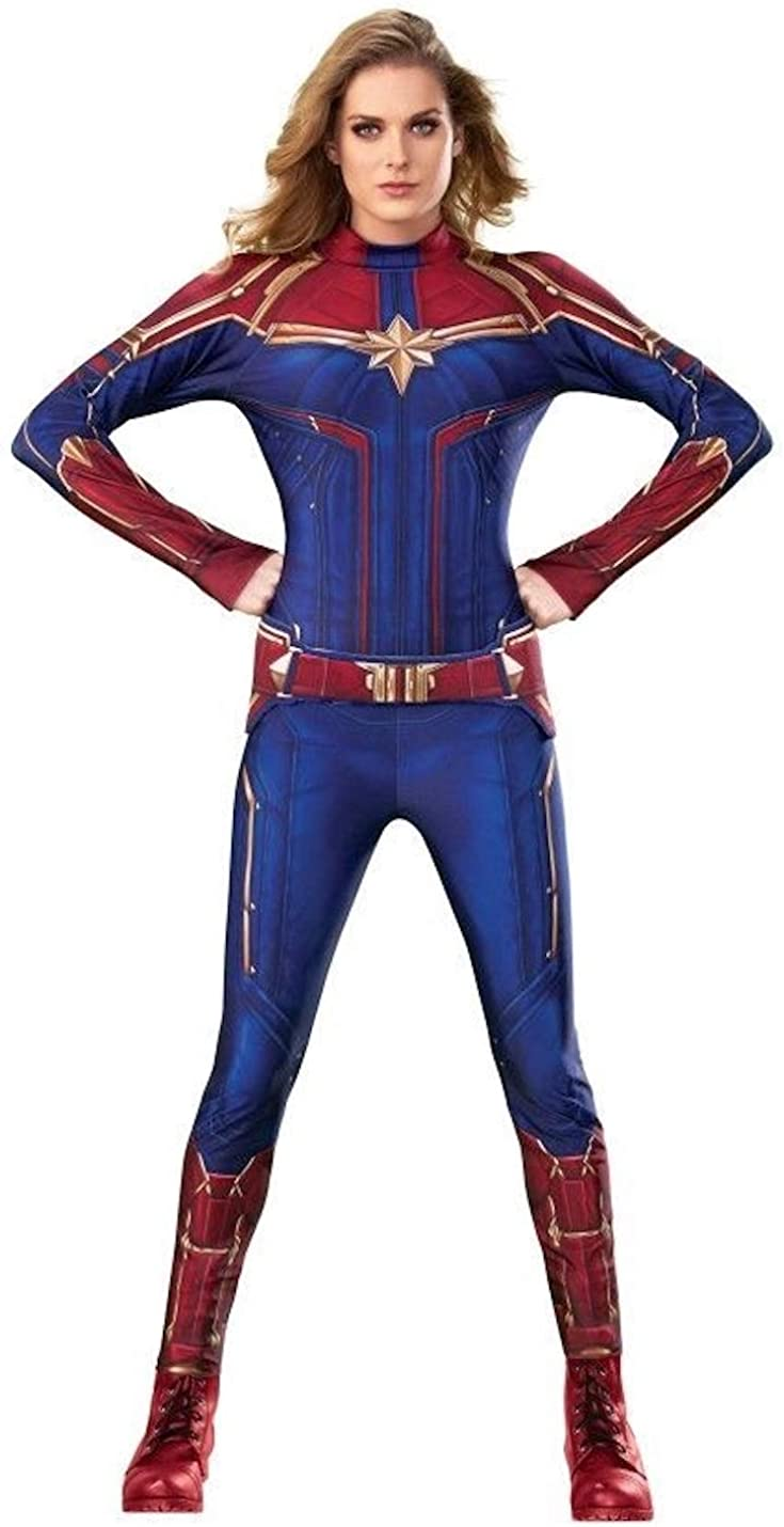 Amazon Com Rubie S Captain Marvel Hero Suit Adult Women S Sized Costumes As Shown Costume Outfit Clothing Love this captain marvel cosplay costume. rubie s captain marvel hero suit adult women s sized costumes as shown costume outfit
