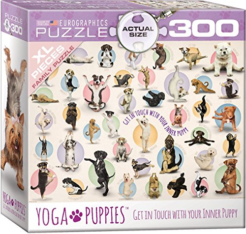 EuroGraphics Yoga Puppies 300-Piece Puzzle (Small Box)