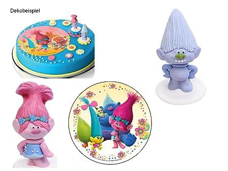 Partydeko Stefino Decoración para Tartas Trolls 3 Piezas ...