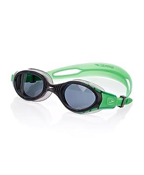 Speedo Futura Biofuse – Gafas de natación – Lentes polarizadas de humo – verde