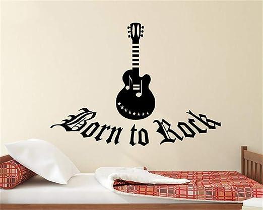 Pegatinas De Frases Para La Pared Mad World Born To Rock