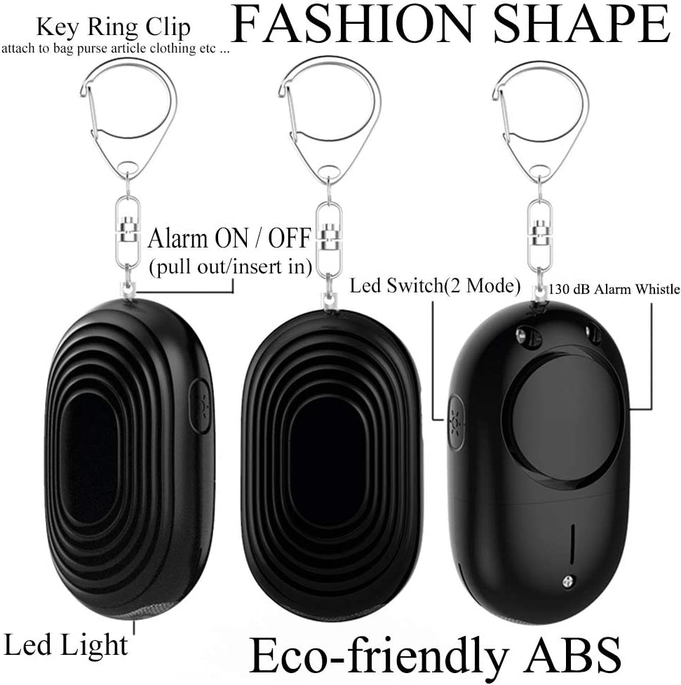 130 dB Personal Alarm for Warn and Help Safety Emergency Self-Defense Security Alarm Keychain with Led Light for Women Kids Elders Cyber Deal Monday Deals Sales Policeman Recommend