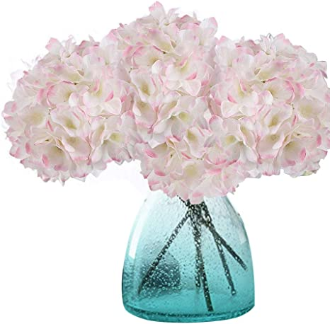Artificial Hydrangea Flower Silk Plant Wedding Party Garden Decor Fushia