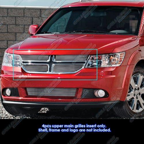 APS Compatible with 2011-2020 Dodge Journey Main Upper Chrome Billet Grille Insert D66876A