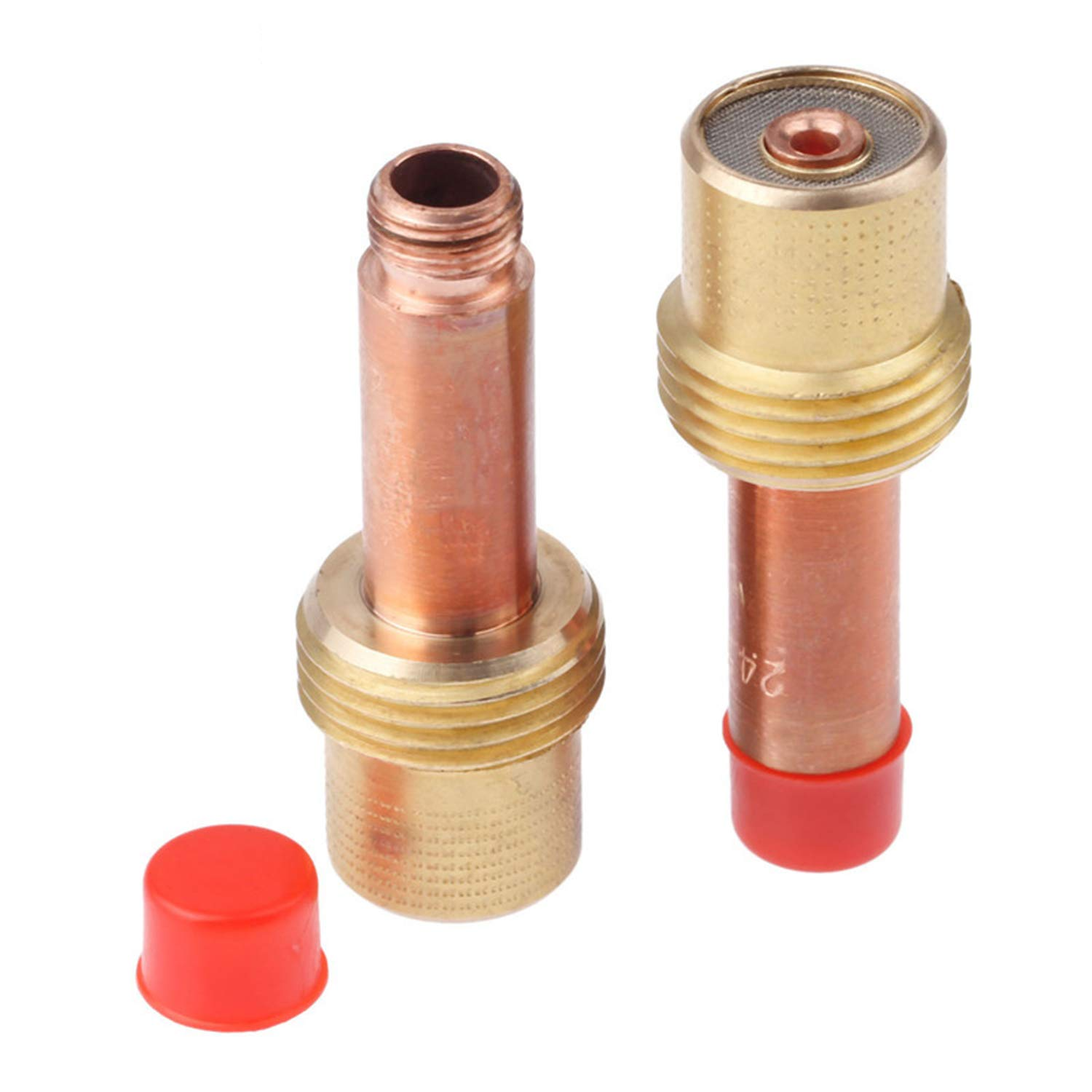 Body Gas Lens for Tig Welding Torch WP-17-18-26 Gas Lens Collet Bodies 1.6mm 1//16 5Pcs 45V25 Collet