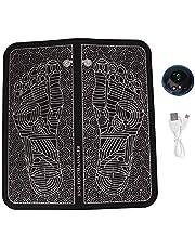 EMS Electric Foot Stimulator Massager, Folding Portable Electric Massage Mat, Full Automatic Massage Foot Circulation Massager Body Machine(Rechargeable)
