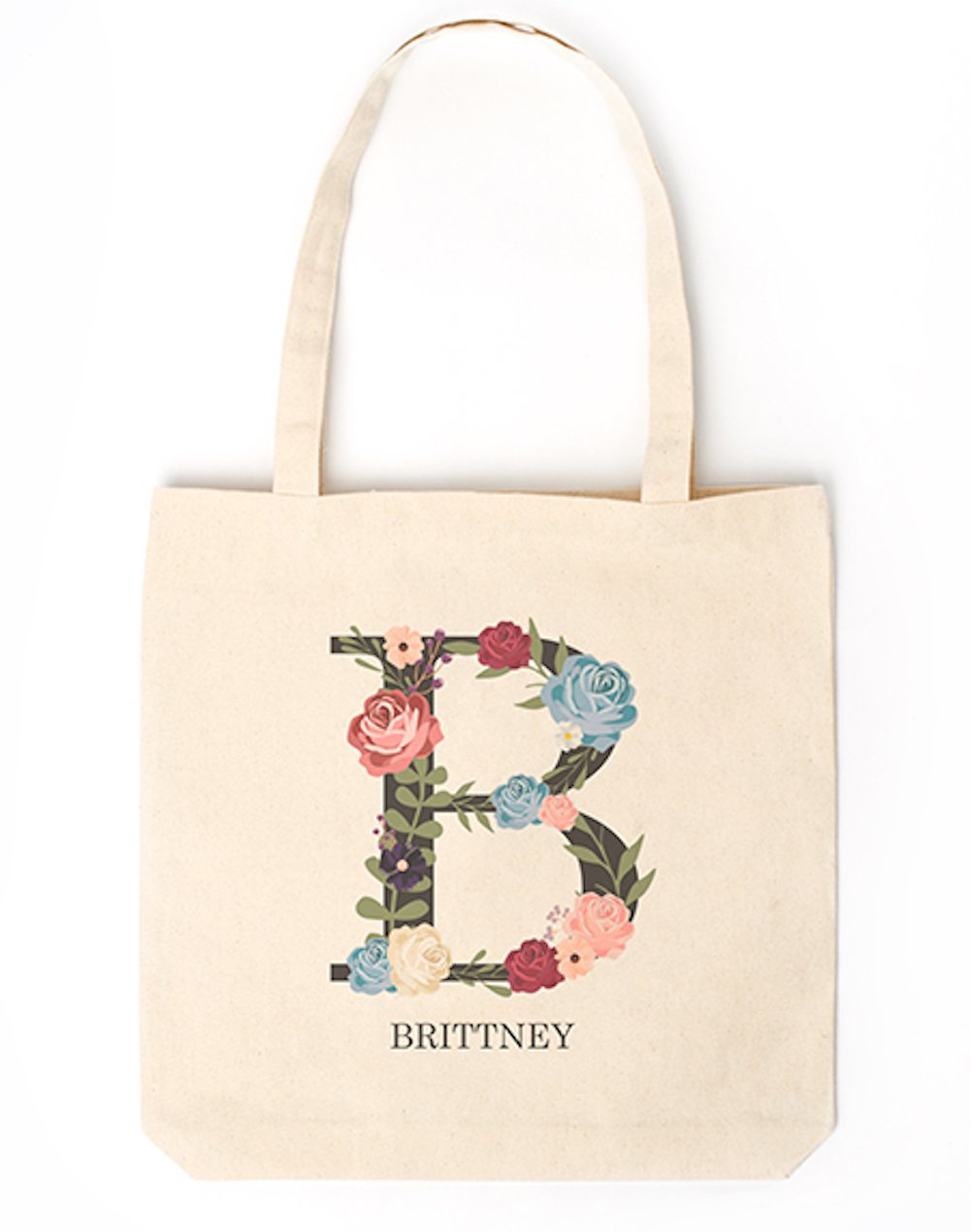 Personalized Monogram Tote - Unique Monogrammed Tote Bags Gifts for Women, Also a Gift for Mom (Letter B)