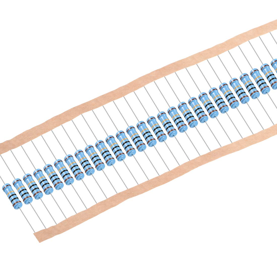 uxcell 30pcs Metal Film Resistors 10 Ohm 1W 1/% Tolerances 5 Color Bands