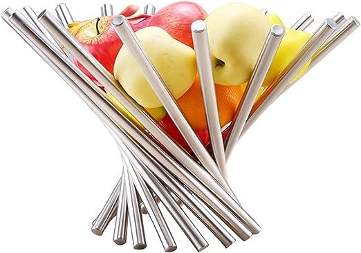 Fulfilled by Silver Landtom Creative Stainless Steel Rotation Fruit Bowl//Fruit Basket//Fruit Stand//Fruit Holder with Free Orange Peeler