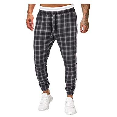 Vectry Pantalones Hombre Pantalones Deportivos Casuales Largos ...