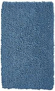 Pinzon 100% Cotton Looped Bath Rug with Non-Slip Backing - 30 x 50 inch, Marine