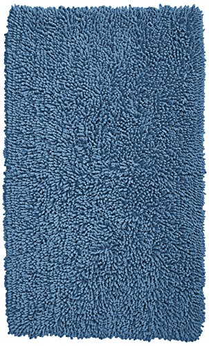 Pinzon Non-Slip Cotton Looped Bathroom Rug - 30 x 50 Inch, Marine