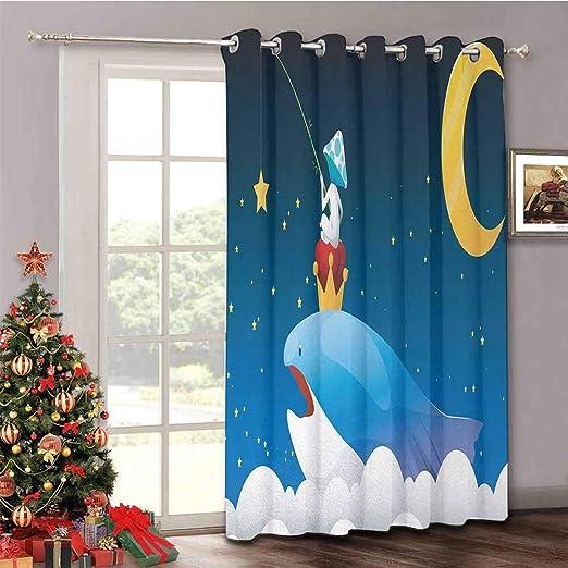 HouseLook Whale - Cortina para Puerta corredera, diseño de Ballena ...