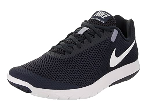 Nike Men s Flex Experience Rn 6 Obsidian White Dark Ankle-High Fabric Running Shoe – 9.5M
