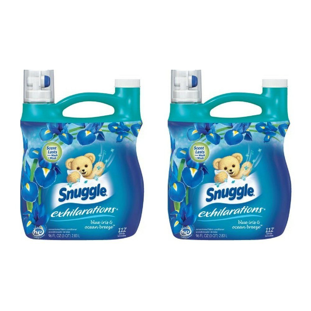 Snuggle Exhilarations Blue Iris and Ocean Breeze Fabric Softener, 96 Oz(2 Pack)