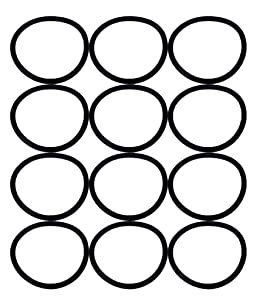 Eureka SAN-GENBELT (12 Pack) Vacuum Cleaner Rubber Brush Roll Belt, Black # E-30563-12pk