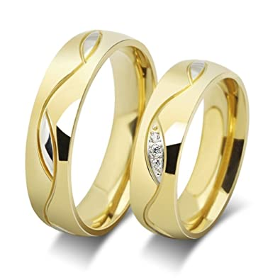 Epinki Stainless Steel Rings Men S Wave Valentine Lovers Couples
