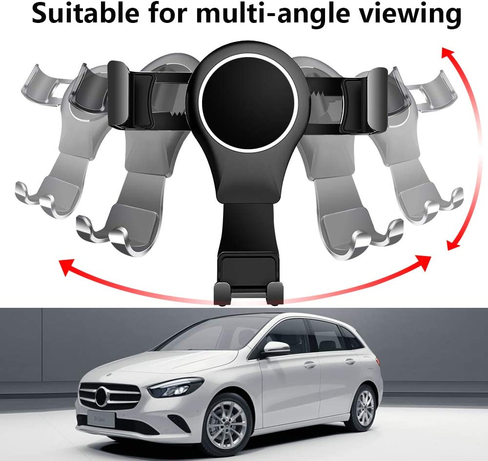 LUNQIN Car Phone Holder for Mercedes Benz B Class 2019-2020 B180 B200 Auto Accessories Navigation Bracket Interior Decoration Mobile Cell Phone Mount