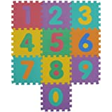 VeloVendo® - Tappeto Puzzle con Certificato CE & Certificazione TÜV in soffice Schiuma EVA | Tappeto da Gioco per Bambini | Tappetino Puzzle (Numeri)