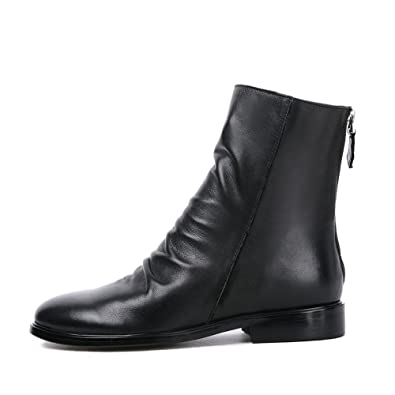 e40f7cd98ab62d Darco   Gianni Women s Slouchy Low Block Heel Ankle Boots Back Zipper  Ladies Leather Casual Short