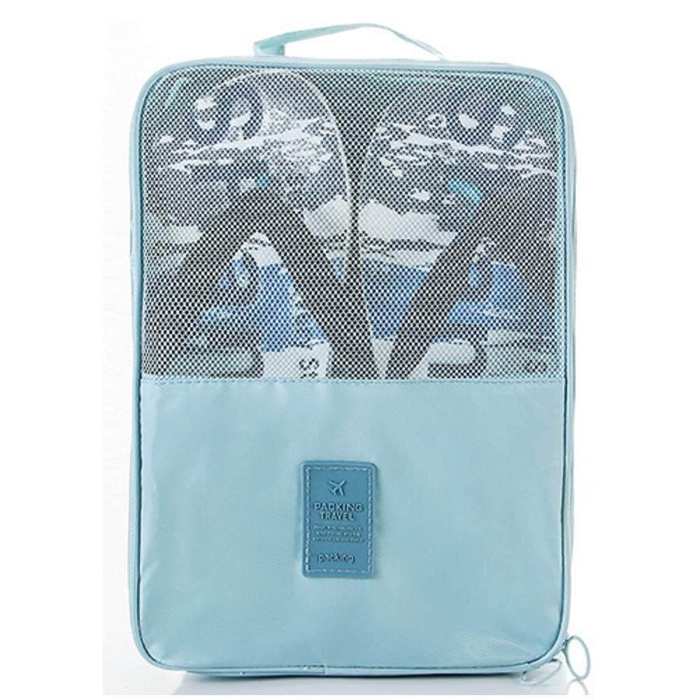 Travel Shoe Bags, Holds 3 Pair of Shoes,Portable Dust-Proof and Waterproof Shoe Storage Bags(Blue)