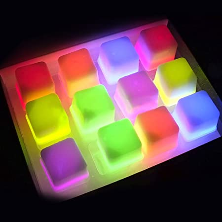 Glow Cubito de hielo | 36 pcs Superb fluorescente cubitos de hielo ...