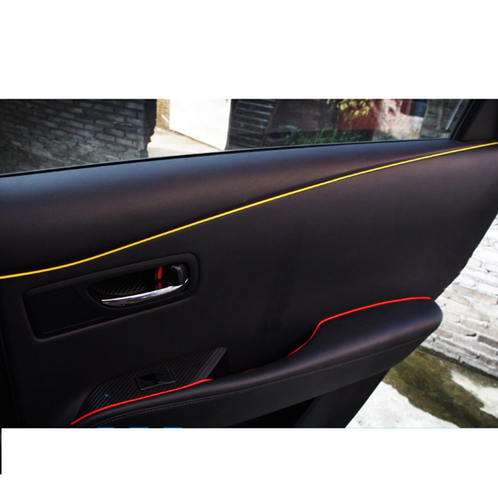 5M Line DIY Car Interior Decor Red Point Edge Gap Door Panel Accessories Molding