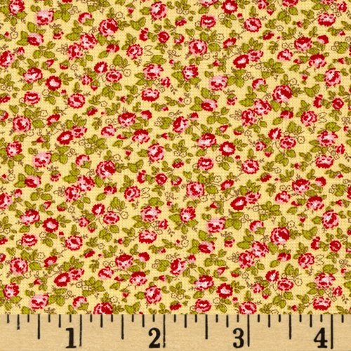 (Moda Windermere Prints Climbing Rose Soft Yellow F)