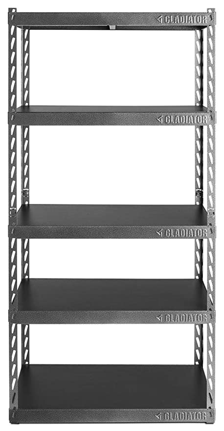 amazon com gladiator gark365tgg 36 wide ez connect rack with five rh amazon com 18 inch deep wall shelves 18 inch deep wall shelves