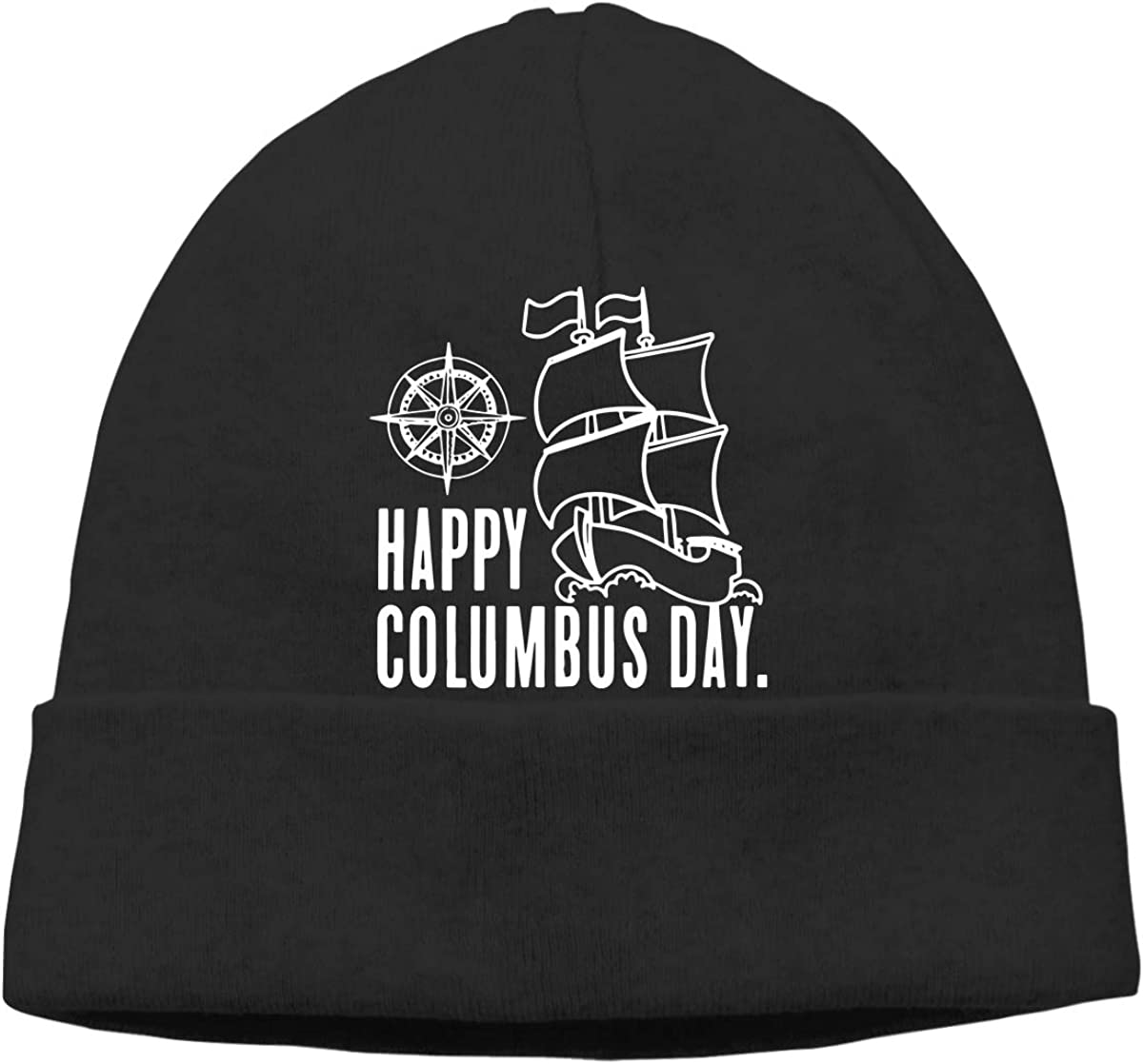 GDSG5/&4 Happy Columbus Day Men and Women Knitting Wool Warm Surf Beanie Hats