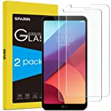 LG G6 Plus / LG G6 Screen Protector, 2 PACK SPARIN LG G6 Tempered Glass Screen Protector with Full Coverage / Scratch-Resistance / 9H Hardness / Easy Installation / High Clarity, Crystal Clear