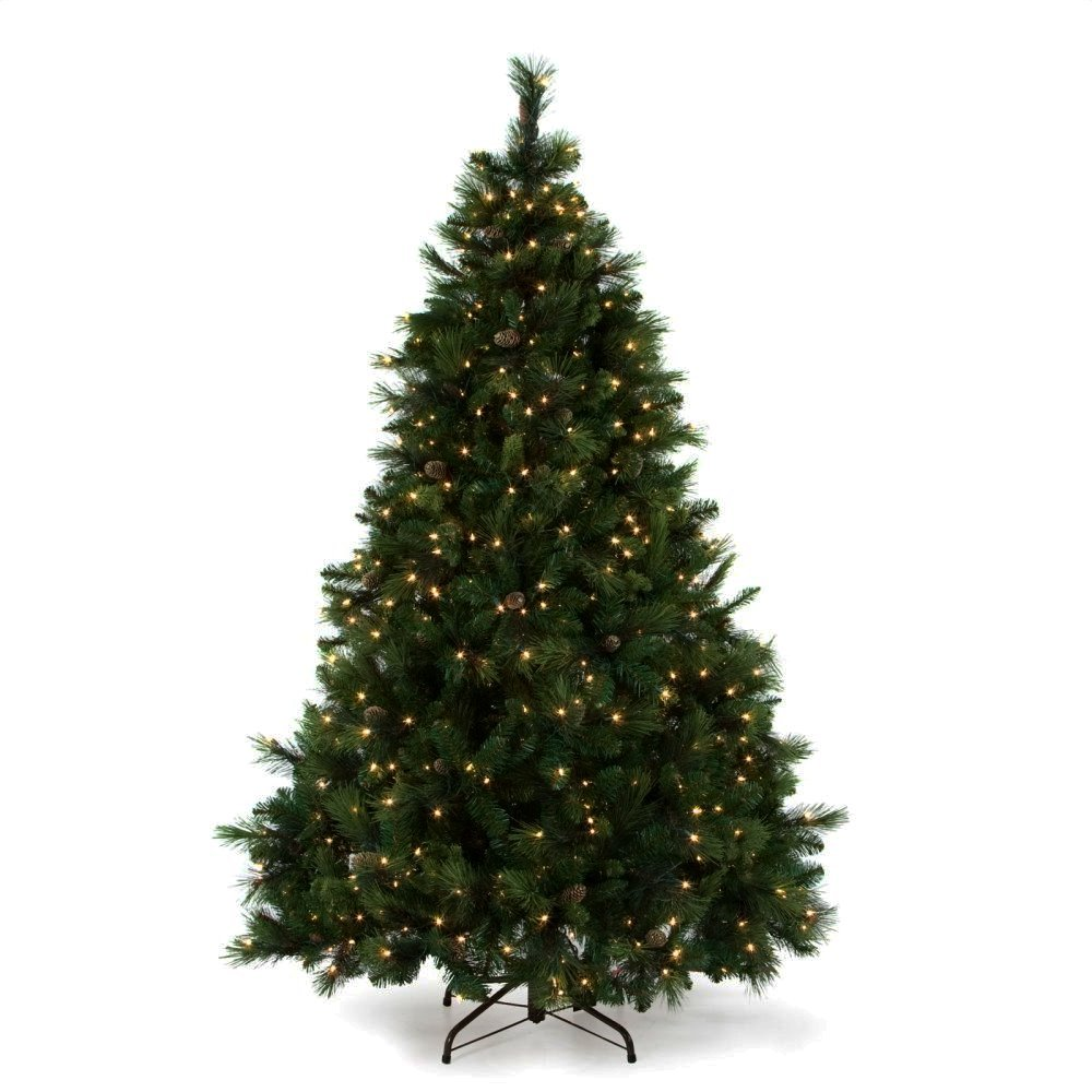 Artificial Christmas Tree. This Fake 12 Foot Xmas Classic-style White Pine Tree Flame Retardant, Easy Assembly, Looks Natural. Great For Indoor & Holiday Season Party Decor.