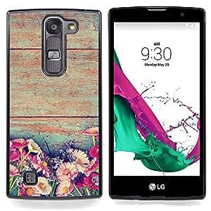 """Rústico Flores florales Sun Inicio"""" - Metal de aluminio y de plástico duro Caja del teléfono - Negro - LG Magna / G4C / H525N H522Y H520N H502F H500F (G4 MINI,NOT FOR LG G4)"""
