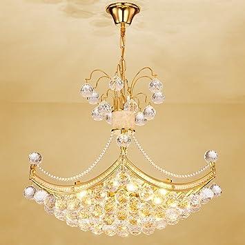 DIDIDD Kronleuchter  Moderne Runde Gold Kristall Chandelier Wohnzimmer  Esszimmer Treppen Kronleuchter   Innenbeleuchtung Kronleuchter