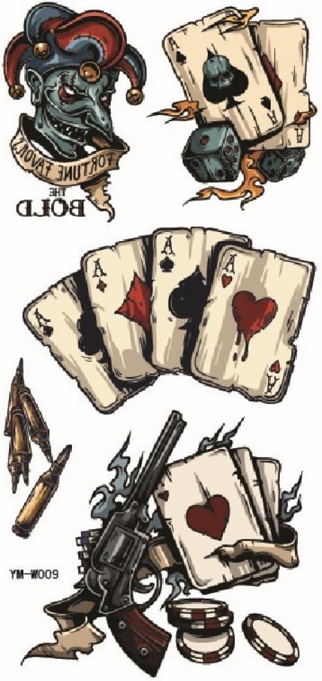 spestyle impermeable y no Tóxico Bold Hombres, Poker y pistola ...