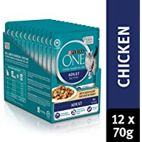 Purina One Adult with Chicken Wet Cat Food, 12 Pouch 0.92 kilograms