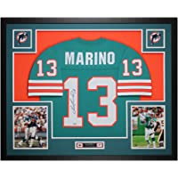 $795 » Dan Marino Autographed Teal Miami Dolphins Jersey - Beautifully Matted and Framed - Hand Signed By Marino and Certified Authentic by…