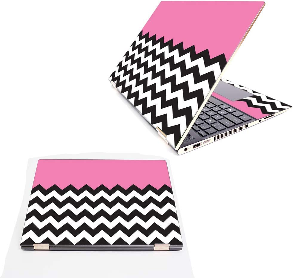 """MightySkins Skin Compatible with HP Spectre x360 15.6"""" (2018) - Pink Chevron 