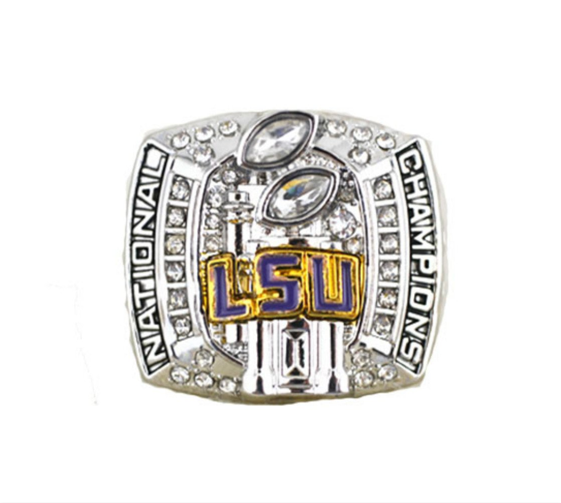for YIYICOOL fans' collection 2007 Louisiana State University Tigers championship rings size 11