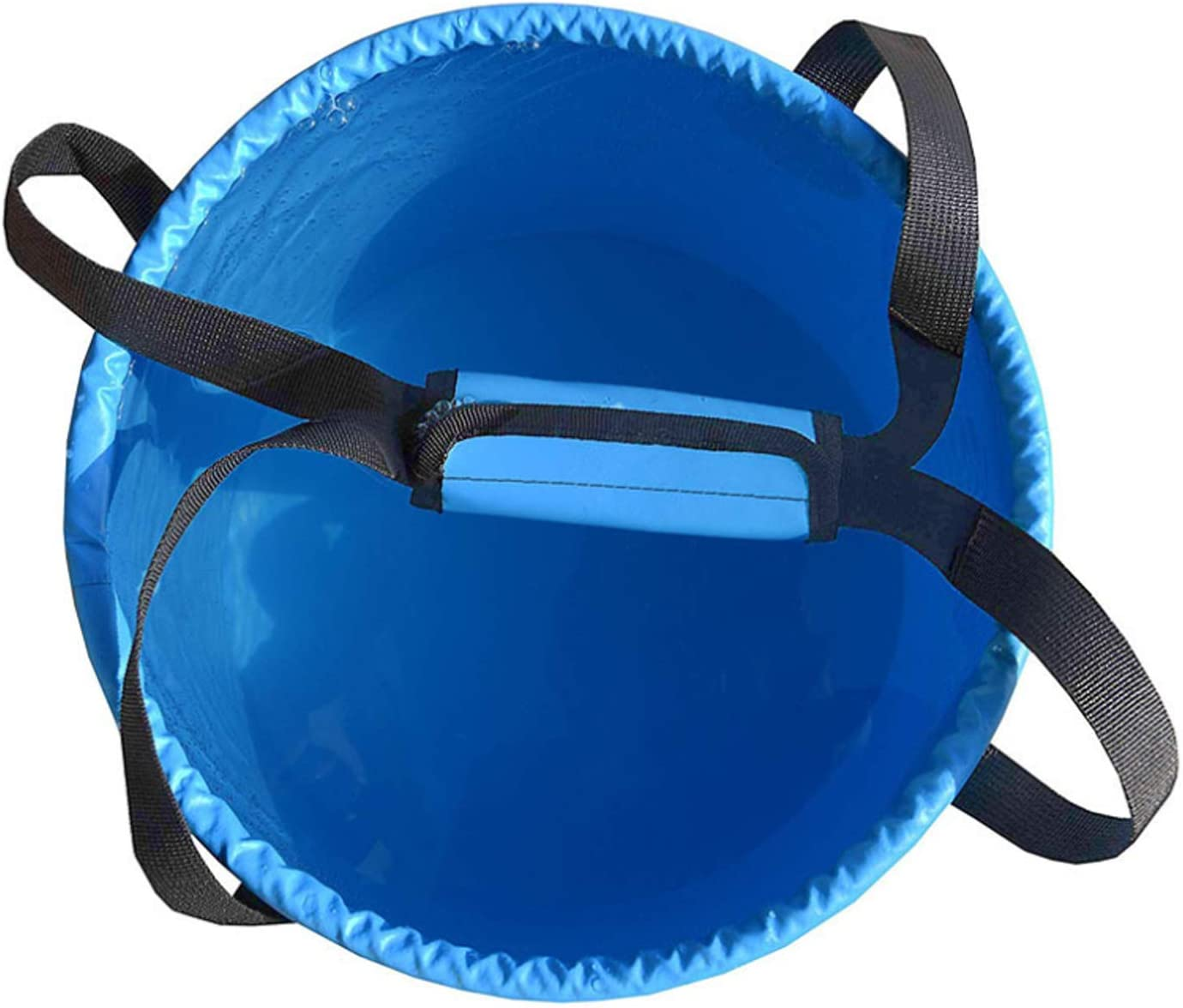 Boating Traveling Durable Portable Folding Water Container with Lid Fishing Fits for Camping YUMQUA Portable Collapsible Bucket and Gardening Car Washing