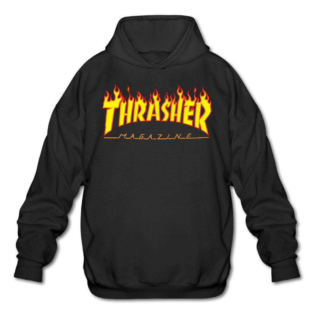 XA-XA-99 Men's Thrasher Magazine Skateboarding Hoodies Black M Xasedi98