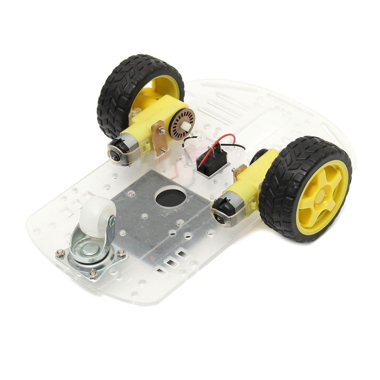 Automotive Gehaeuse Set Neu 2WD Smart Motor Roboter Auto Fahrgestelle Batterie Box Set Drehzahlgeber fuer Arduino SODIAL R