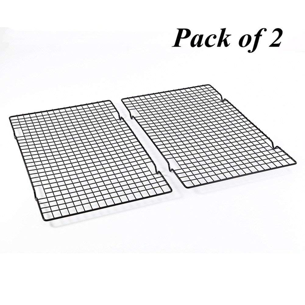 Delidge Pack of 2 Cooling and Baking Rack Nonstick Cooking Grill Stainless Steel Tray for Biscuit/Cake/Bread/Baking Cake K3447*2