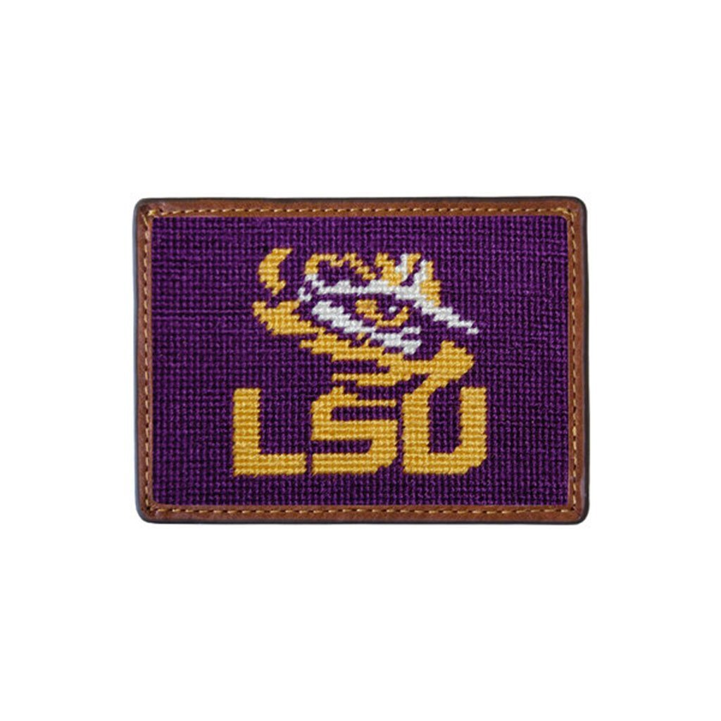 Louisiana State University Needlepoint Credit Card Wallet by Smathers & Branson