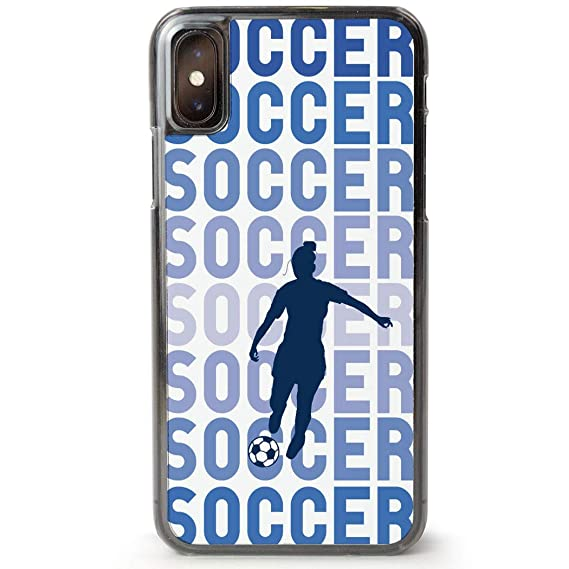more photos f2548 d7196 Amazon.com: Soccer iPhone X Case | Soccer Fade Girl | Blue: Cell ...