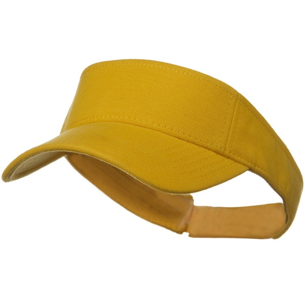 Yellow Comfy Cotton Pique Knit Sun Visor