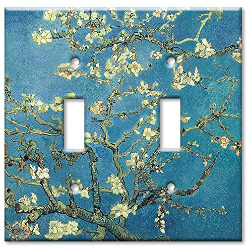 Art Plates - Van Gogh: Almond Blossoms Switch Plate - Double Toggle - Light Switch Outlet Cover Art