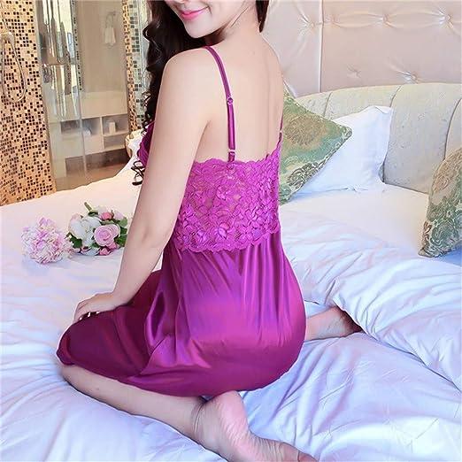 Luckycat Mujer Lencería Sexy Pijamas Camisones Encaje Babydoll con Cordón Mujer Conjunto de Lencería Camisón Sexy Ropa Erótica Pijama Encaje y Tul Abierta ...