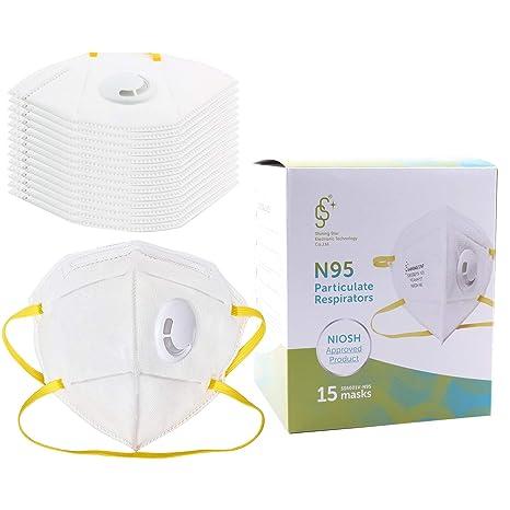 De Mascarilla Plegable N95 Polvo Respiradora Válvula Con